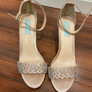 Champagne colored Betsey Johnson heels